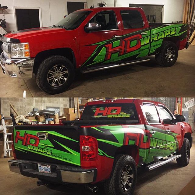 Sick logo design and truck wrap for our good friends at HD Wraps who did a stellar job installing it! 🍎🍏 #shredcity #hdwrapz #1330wraps #layednotsprayed #mattelaminate #truckwraps #graphicdesign #customwraps #vehiclewraps #braap