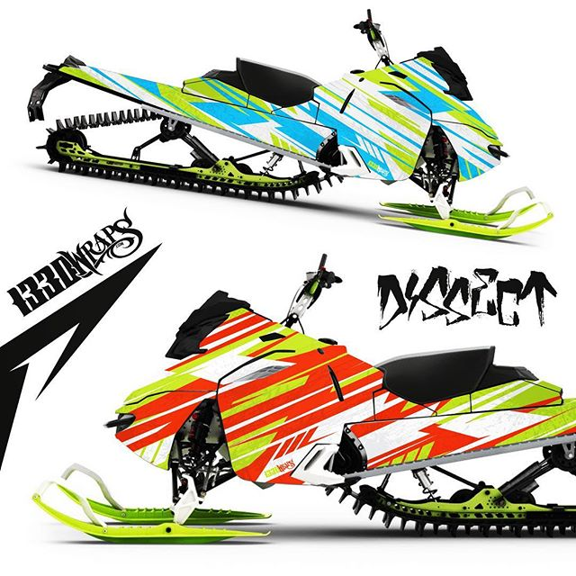 "Get those powder thrashin', snow shreddin' beasts of yours dialed in with the new ""Dissect"" wrap, available for any model. Visit 1330wraps.com/sledwraps today 👍🏼 #shredcity #braap #graphicdesign #customwraps #sledwraps #wrapit #snow #winter #skidoo #1330wraps #gbwraps #getsome"