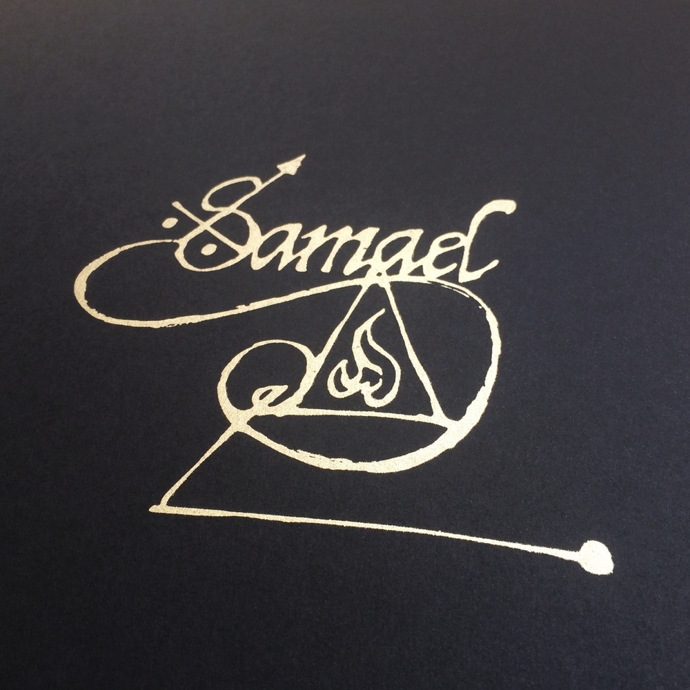 Type / sigil work & a nice pale gold printed up for  Sarah Sheil