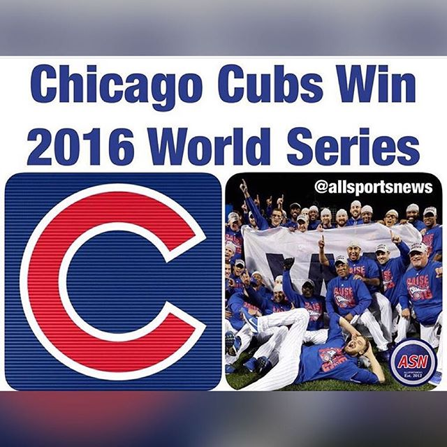 Yasssssssss 🙌🏾 Wishing my dad was alive to see this! Cubs ⚾️ #FLYTHEW  #ChitownStandUp