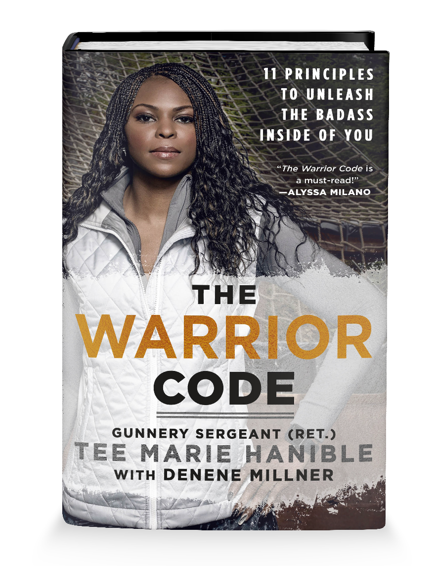 "THE WARRIOR CODE - 11 Principles to Unleash the Badass Inside of YouFrom American Grit co-star, former Marine Gunnery Sergeant Tee Marie Hanible comes the story of how she became a warrior… and how you can do it too.""Tee Marie Hanible is a real-life warrior and an incredibly fierce woman in her own right. The Warrior Code is a must read!"" —Alyssa Milano""Tee Marie Hanible, a woman of incredible strength and courage, has now given readers a guide that will show them how to tap into their own power with The Warrior Code. A must-have!"" —Montel Williams"