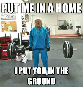 Granny deadlift