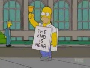 homer simpson - the end is near