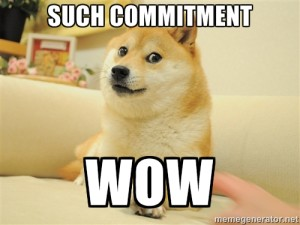 commitment wow dog