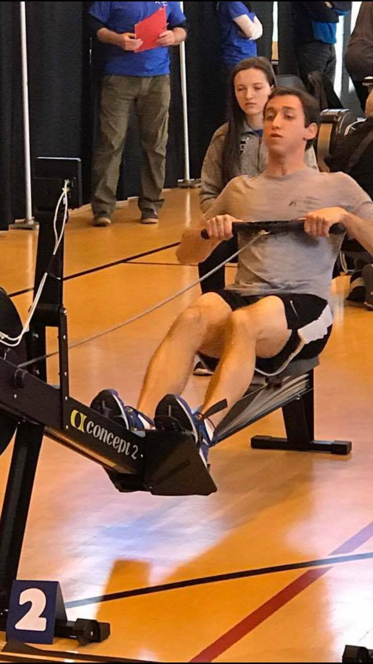 Brian getting after his 2k Row