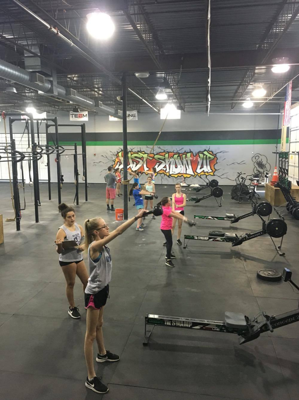 Some of our Swamp Teens throwing down on their version of 17.4