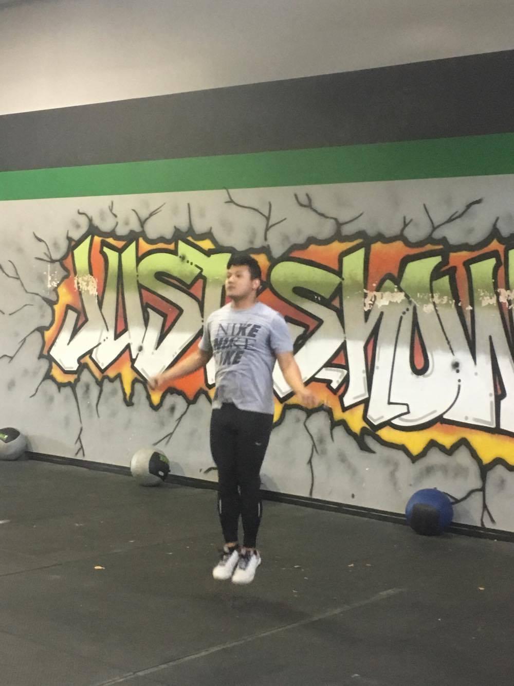 Daveth working through Tuesdays workout