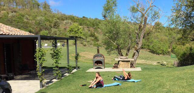 Jen and Bella showing us you don't have to be in a gym to get after some fitness!