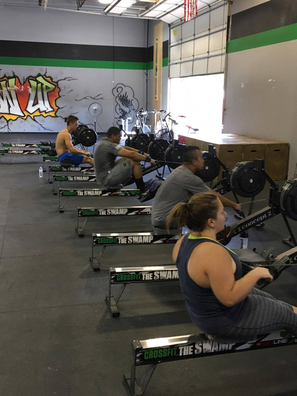 Having a little fun getting after a 1250m row.