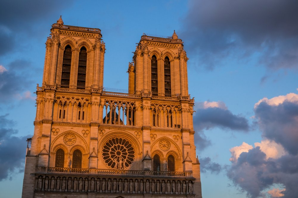 Notre Dame Golden Hour - Paris, France