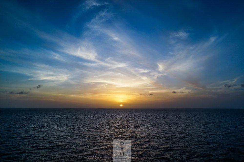 Touching the Horizon - Caribbean Sea