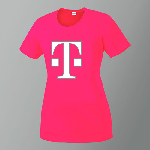 Ladies Magenta Core Tee - 10 Points
