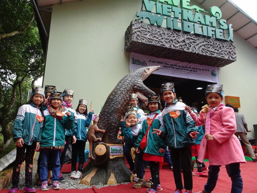 The carnivore and pangolin education centre in Cuc Phoung National Park, Viet Nam Credit:  Save Vietnam's Wildlife