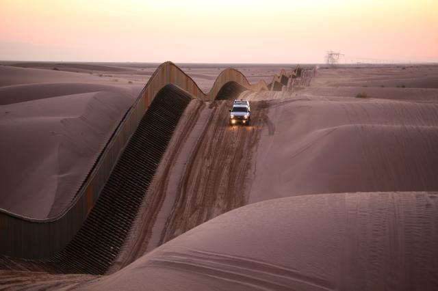 The Algodones dunes, California