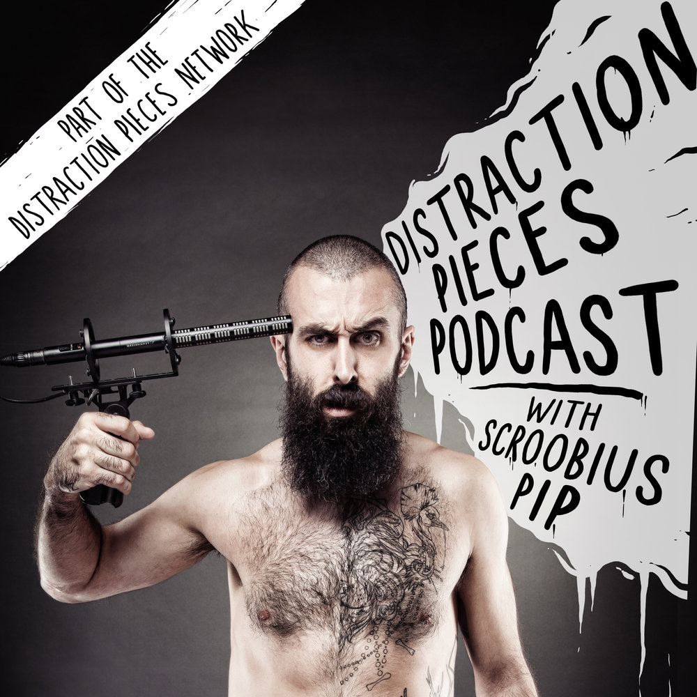 Listen to Scroobius pip's Distraction Pieces  , Artwork courteous of   mr heggie