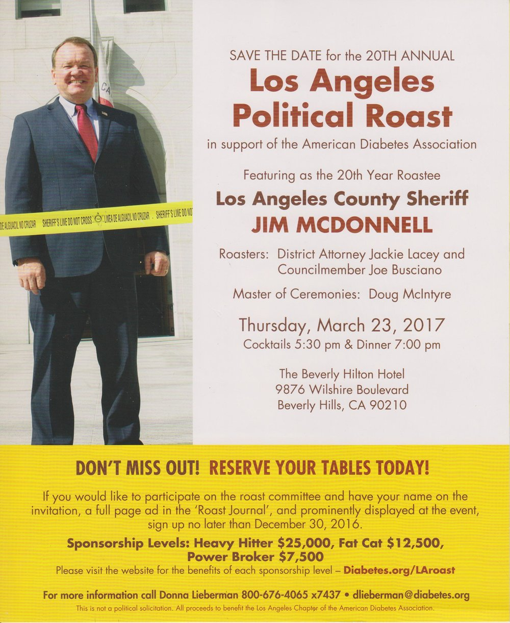 LA Political Roast Invite