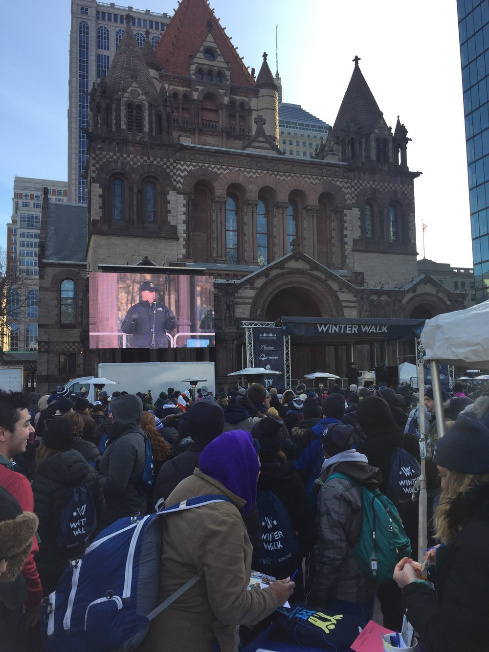 Boston Mayor Marty Walsh opened the event with some remarks before we started the Winter Walk.