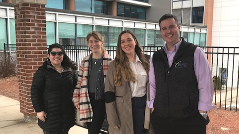 Peter Ducharme, Director of Program Services, and Bridge Counselors and Clinicians were invited for a site visit at Motivating Youth Recovery (MYR) in Worcester after Peter presented at BSAS.