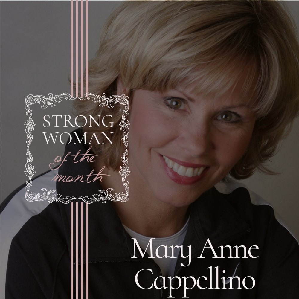 STRONG WOMAN OF THE MONTH - Check out the amazing women doing amazing things in our community + shop their products { pictured above: Mary Anne Cappellino}