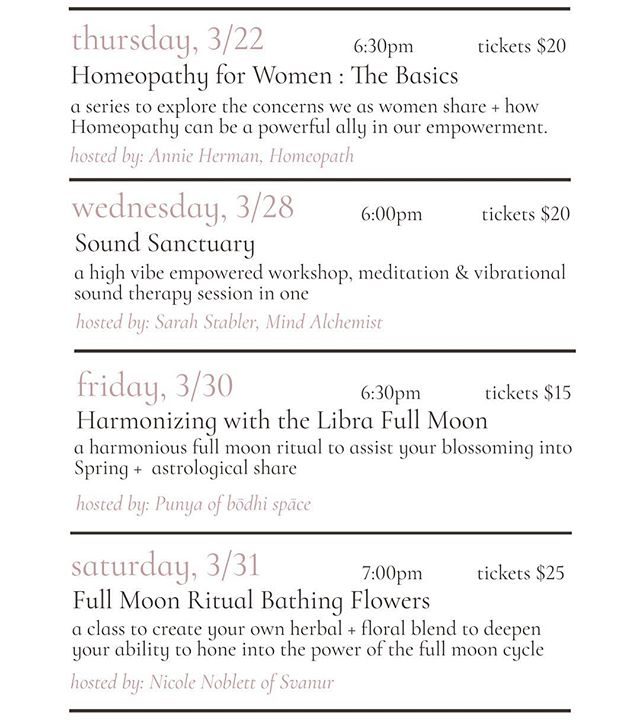 If you haven't yet, be sure to head over to our website to see all the amazing workshops + classes being hosted at our sister store @hersanctuarybuffalo ...there are still tickets available || we provide a sanctuary space for women to gather + for women to share their gifts with the community around them