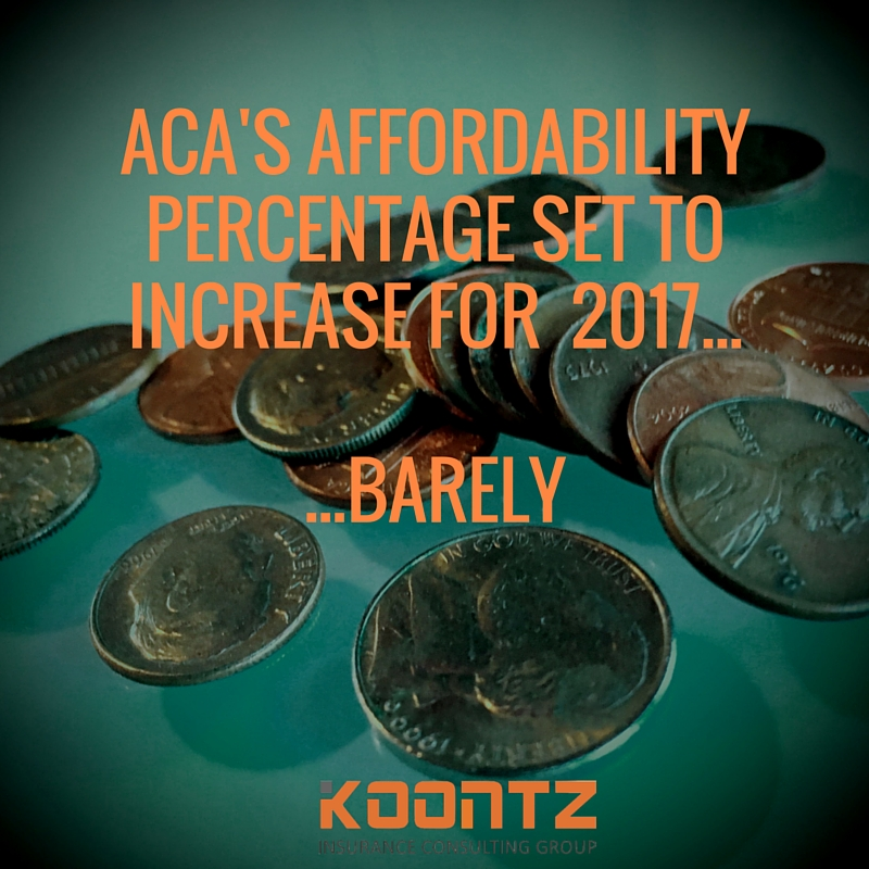 ACA's Affordability PErcentage set to increase for 2017......Barely.jpg