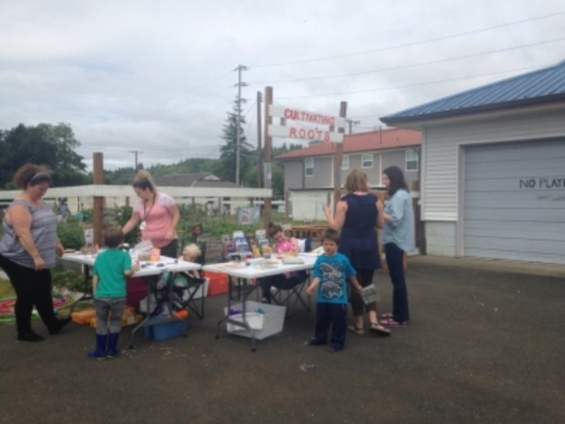 Aberdeen Timberland Library staff provide activities open to the public every Friday through August 5 at the Cultivating Roots Garden.