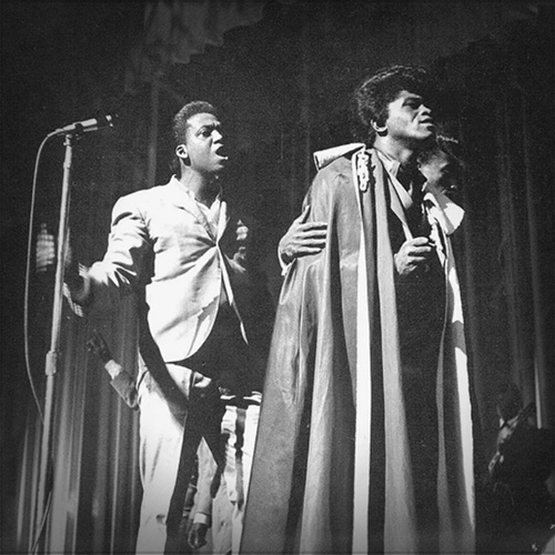 James Brown performing live in 1963