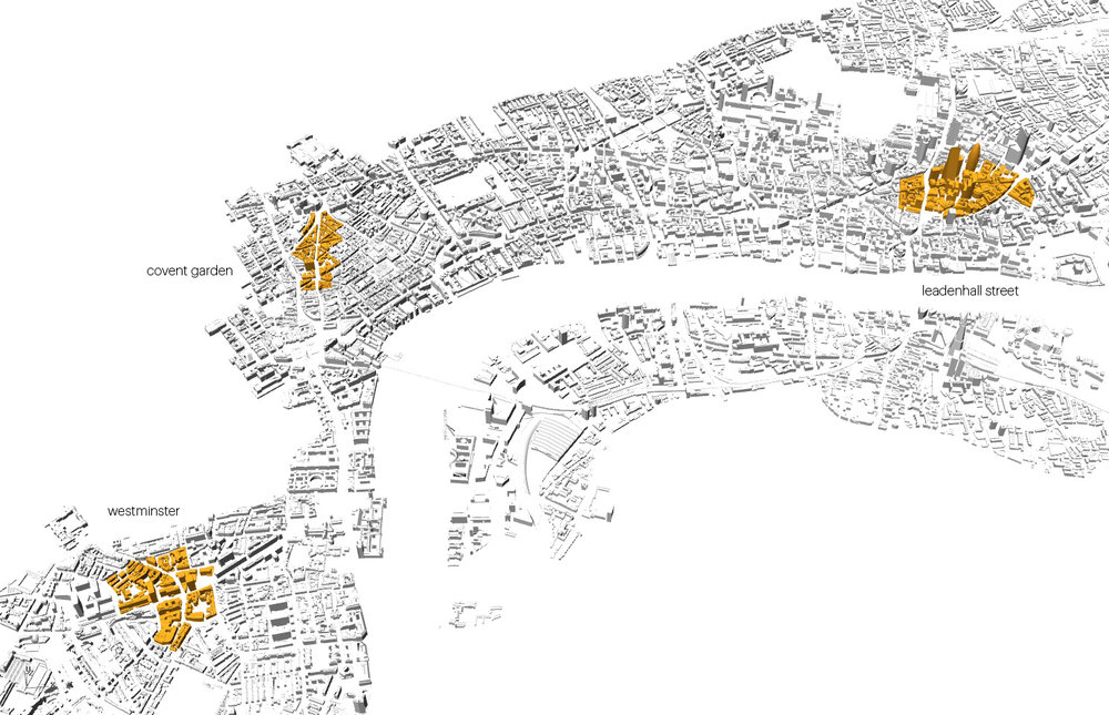 Fig 4 - Locations in London City identified for analysis.