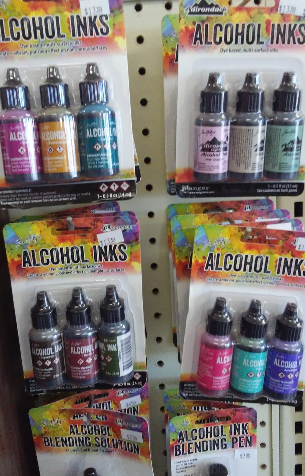 A new venture for us at the garden centre. Alcohol ink is a new and interesting way to put color on paper, tile or glass.