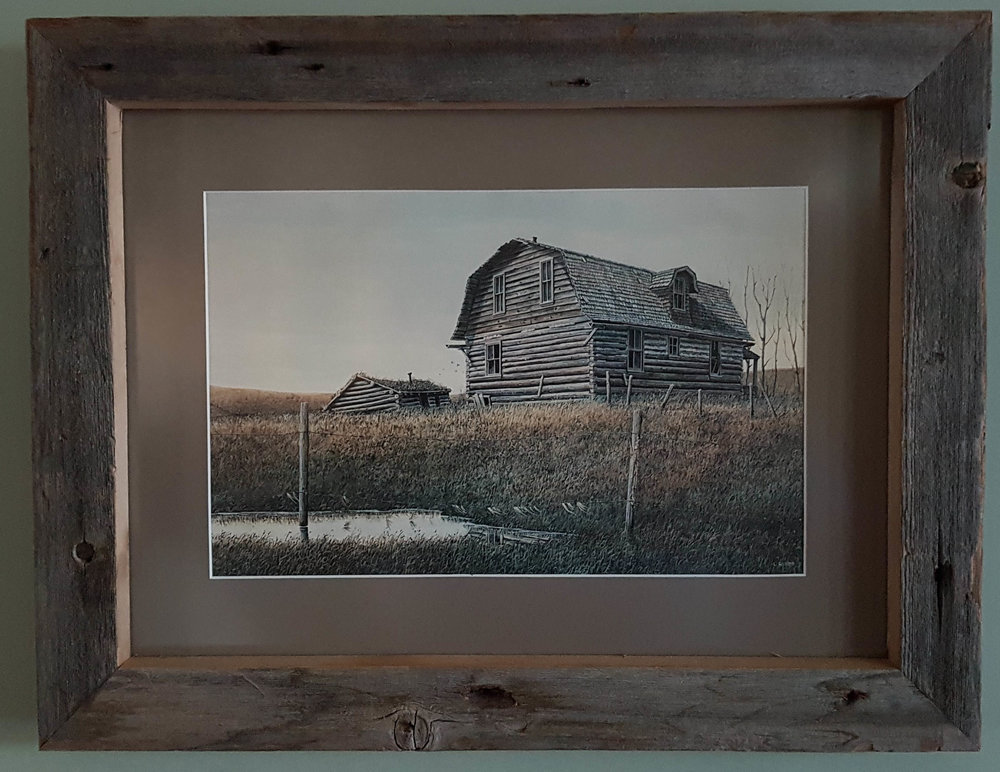 """Old Barn"" framed in barn wood!"