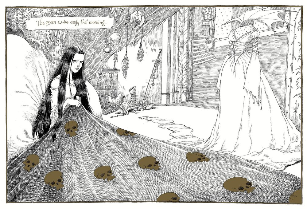 From The Sleeper and the Spindle by Chris Riddell