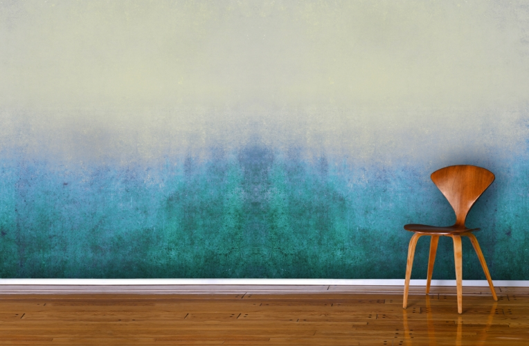 Blue-Grunge-Ombre-Mural-Room