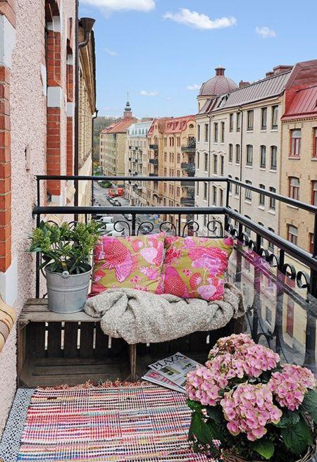 crates garden  balcony
