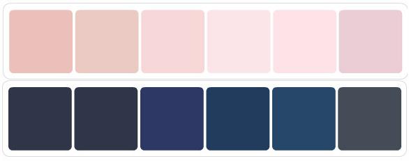 OB-Navy & Blush scheme