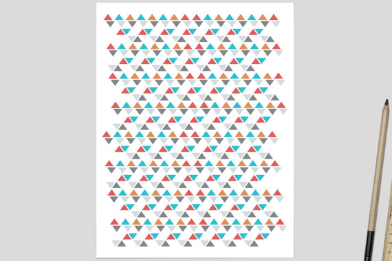 etsy geometric paper