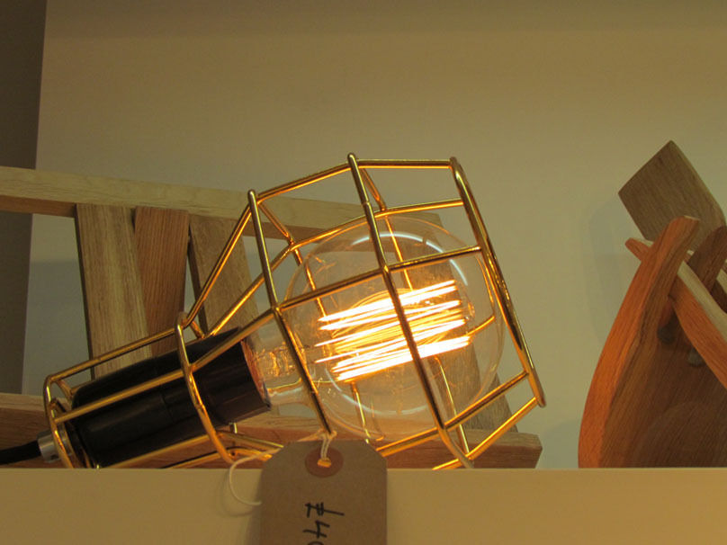 gold cage lamp