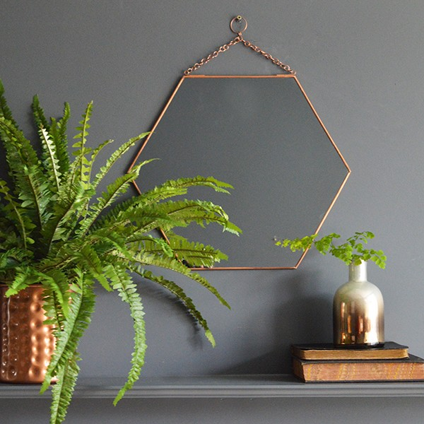 Mia Fleur copper-hexagonal-mirror