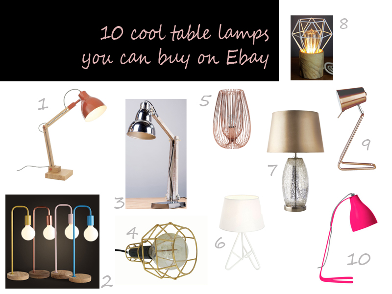 cool table lamps affordable ebay