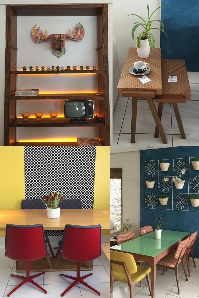 Bright colours & Retro furniture