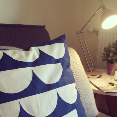 Bardot Blue Petal Cushion