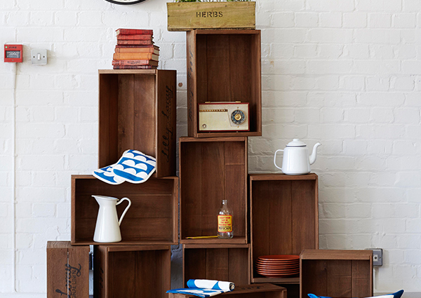 walnut marvin crate stacked
