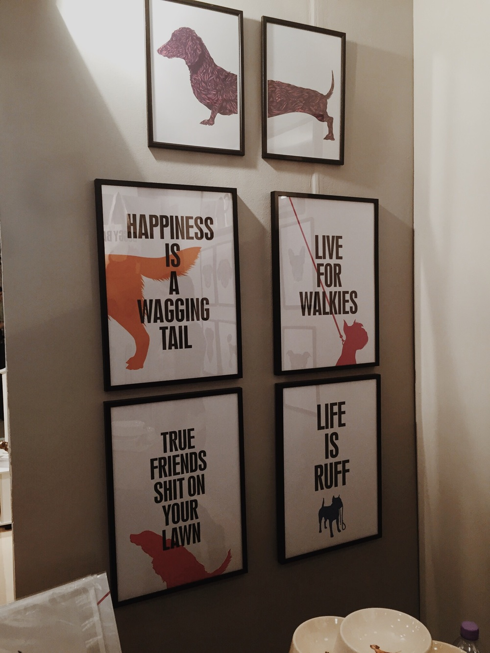 Fun dog inspired prints by  Fifi + Pascale