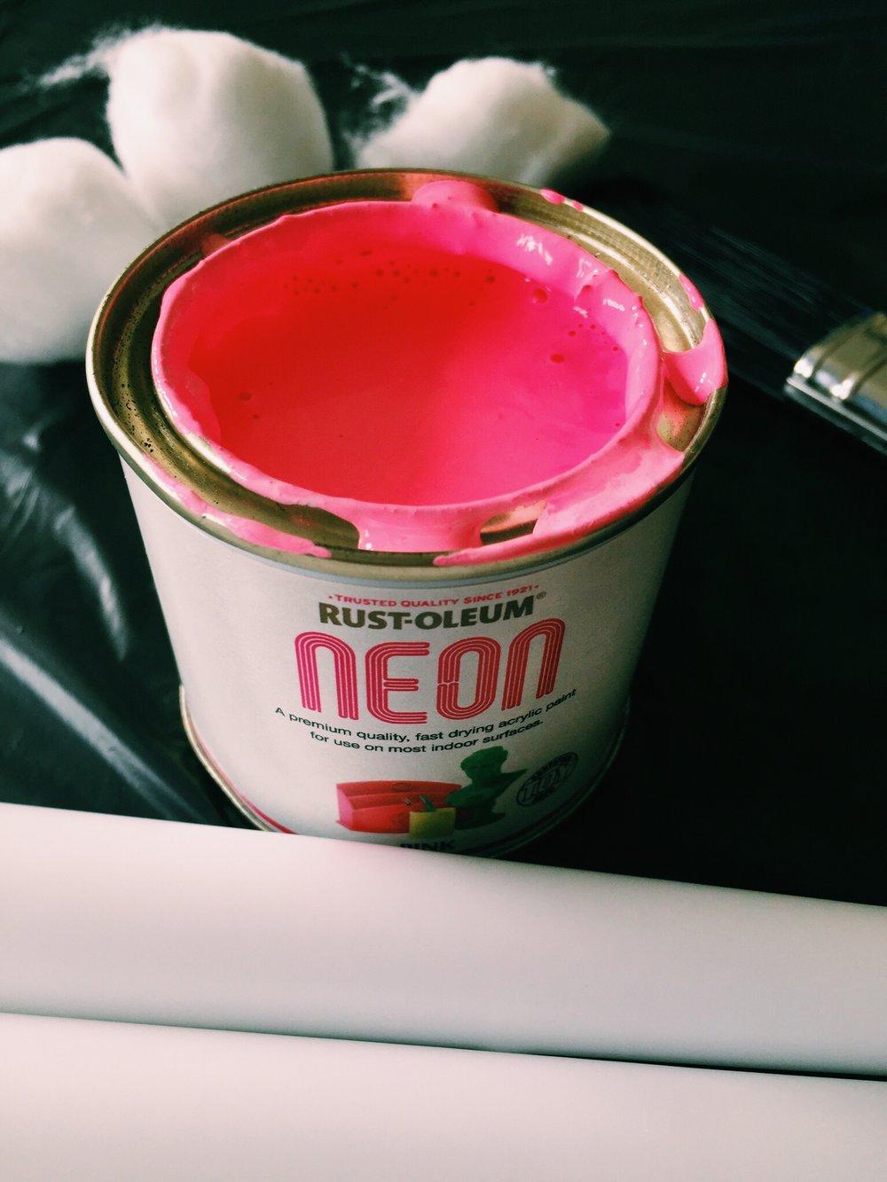 I love the neon range by Rust-Oleum
