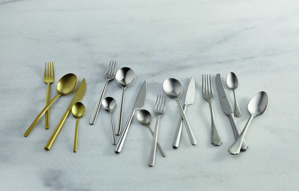 The  cutlery set in matt gold finish  really stands out, £116