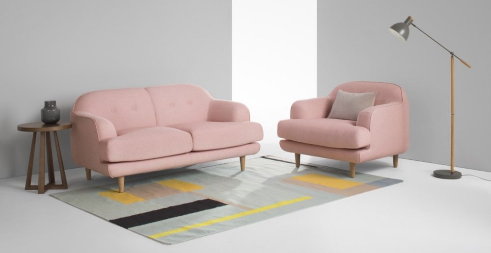 the  Gracie sofa  in pink is stunning