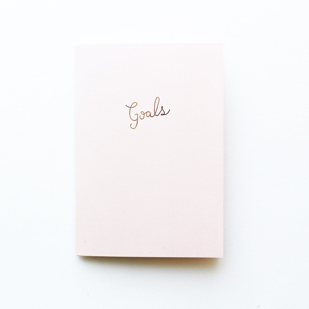 blush goals notebook