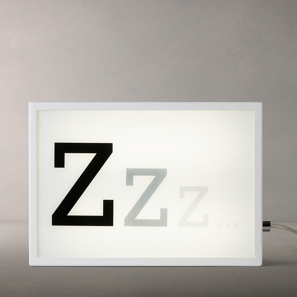 John Lewis ZZZ Light Box  £55