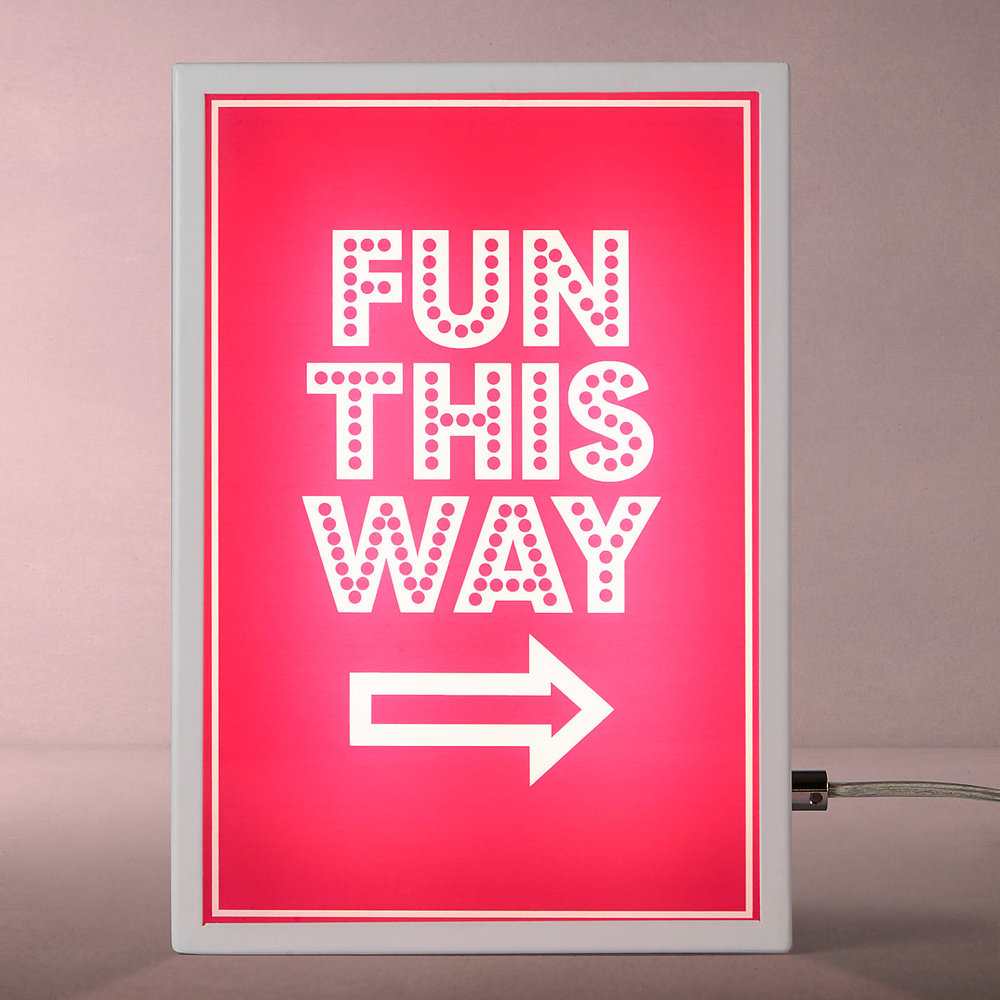 John Lewis Fun This Way Light Box  £55