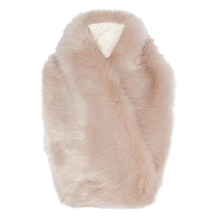 coast faux fur scarf blush