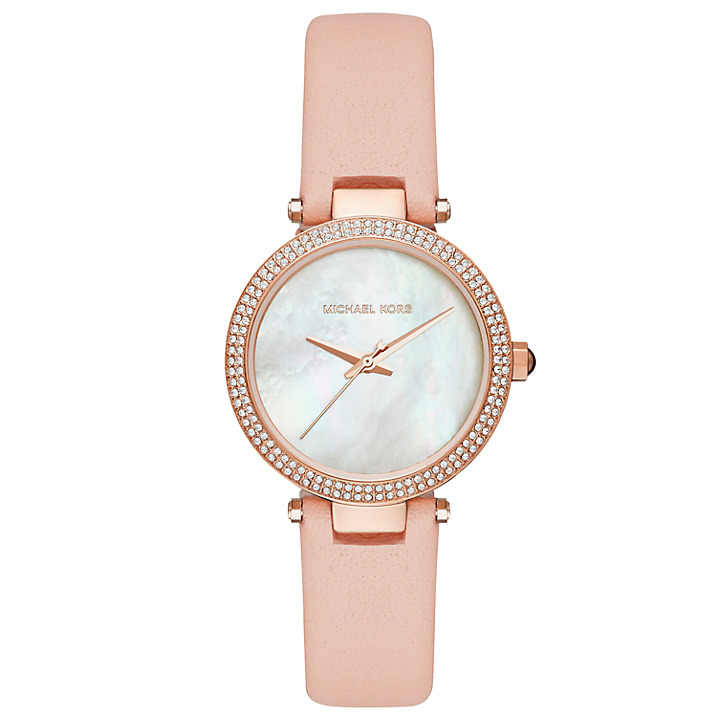 michael kors blush strap watch